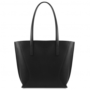 Tuscany Leather TL141790 Nemesi - Leather shopping bag Black