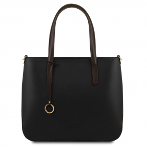 Tuscany Leather TL141791 Penelope - Borsa shopping in pelle Nero