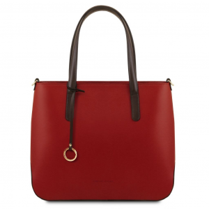 Tuscany Leather TL141791 Penelope - Leather tote Red