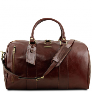 Tuscany Leather TL141794 TL Voyager - Travel leather duffle bag - Large  size Brown 692cc1d2dce9f