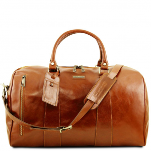 Tuscany Leather TL141794 TL Voyager - Travel leather duffle bag - Large size Honey