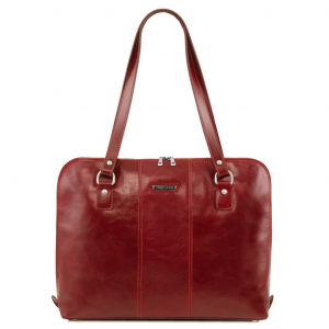 Tuscany Leather TL141795 Ravenna - Exclusive lady business bag Red
