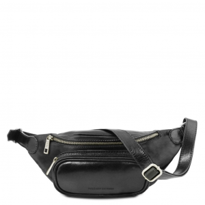 Tuscany Leather TL141797 Leather fanny pack Black