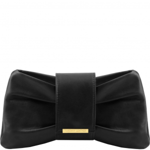 Tuscany Leather TL141801 Priscilla - Clutch leather handbag Black