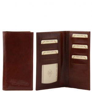 Tuscany Leather TL140784 Exclusive leather 2 fold vertical wallet Brown