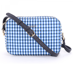 Shoulder bag Liu Jo MANHATTAN GIPSY CIRCUS N19092 E0017 VICHY BIANCO+BLU