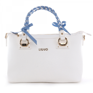 Hand and shoulder bag Liu Jo MANHATTAN GIPSY CIRCUS N19091 E0017 OFF WHITE