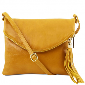 Tuscany Leather TL141153 TL Young Bag - Borsa a tracolla con nappa Giallo