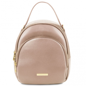 Tuscany Leather TL141743 TL Bag - Zaino donna in pelle Nude