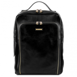Tuscany Leather TL141793 Bangkok - Zaino porta notebook in pelle Nero