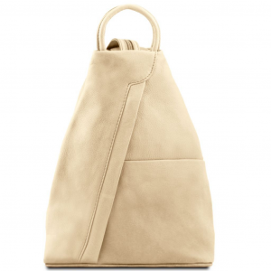 Tuscany Leather TL140963 Shanghai - Zaino in pelle morbida Beige