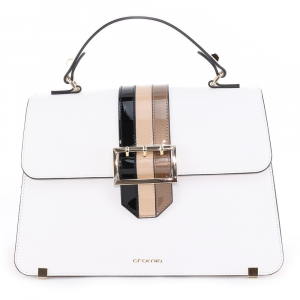 Hand and shouder bag Cromia RASHIDA 1404187 BIANCO+CREMA