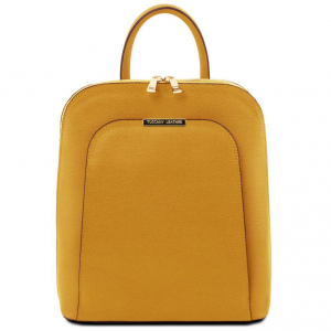 Tuscany Leather TL141631 TL Bag - Zaino donna in pelle Saffiano Senape