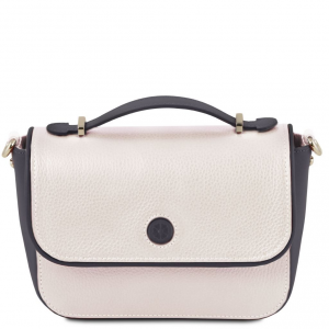 Tuscany Leather TL141725 Primula - Pochette in pelle Bianco