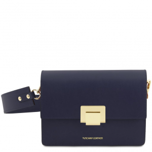 Tuscany Leather TL141742 Adele - Pochette in pelle Blu scuro