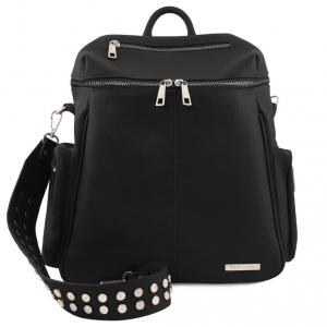 Tuscany Leather TL141747 TL Bag - Zaino donna in pelle morbida Nero