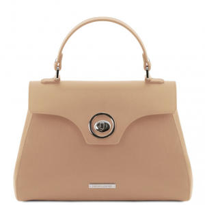 Tuscany Leather TL141824 TL Bag - Bauletto in pelle Champagne