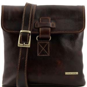 Tuscany Leather TL9087 Andrea - Borsello in pelle a tracolla Testa di Moro